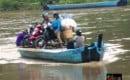 Suasana penyebrangan ojek perahu bengawan solo Blora