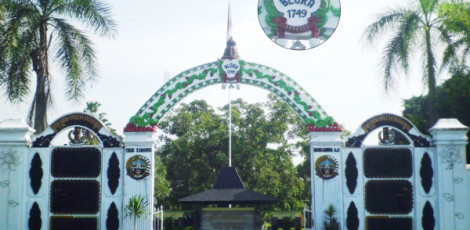 Gapura Kabupaten Blora / pintu masuk pendopo kabupaten blora