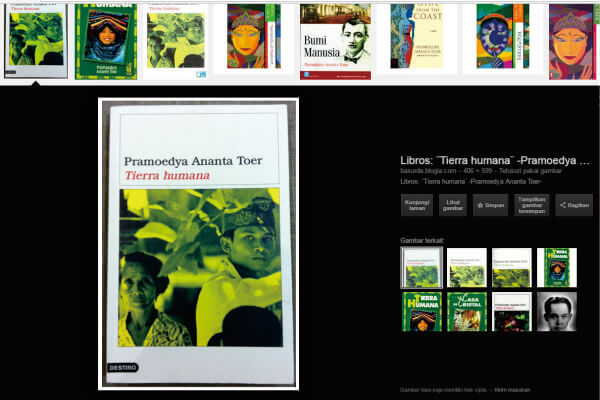 Tierra Humana, terjemahan novel Bumi Manusia karya Pramoedya