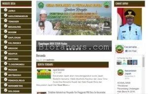 HEBAT, SELURUH DESA DI JAPAH SUDAH PUNYA WEBSITE