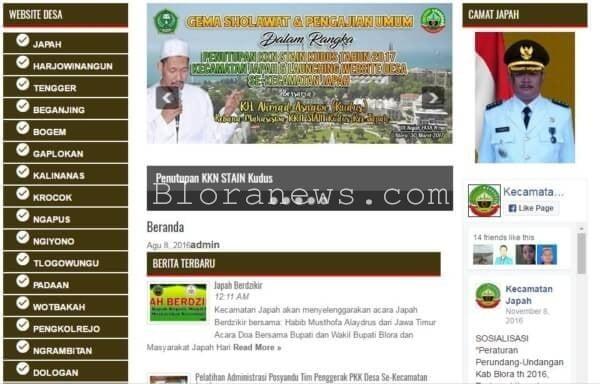 SELURUH DESA DI JAPAH SUDAH PUNYA WEBSITE