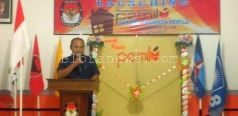 KPUD BLORA LAUNCHING RUMAH PINTAR SASONO PASINAON PEMILU