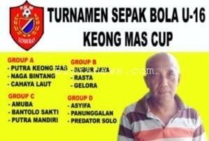 12 KLUB SEPAK BOLA IKUTI TURNAMEN U -16 KEONG MAS CUP KUNDURAN 2017