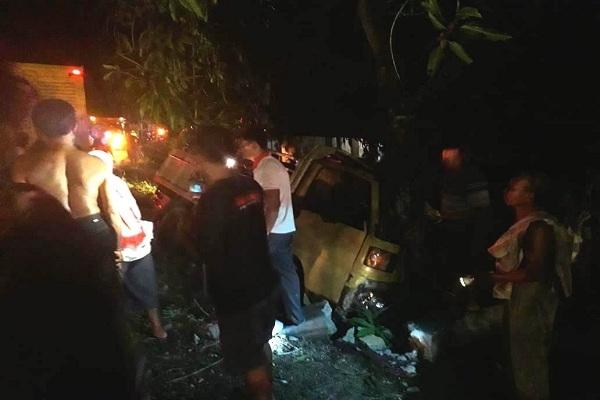 Kecelakaan di Jalan Raya Randublatung-Doplang KM 4, Sabtu (27/10) malam