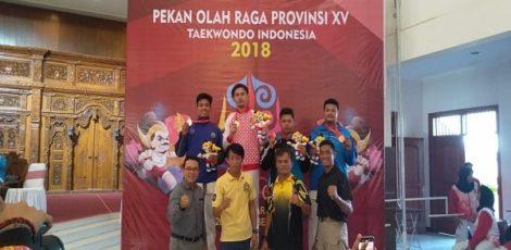 Atlet Taekwondo Blora menambah pundi-pundi medali perak dalam Porprov 2018