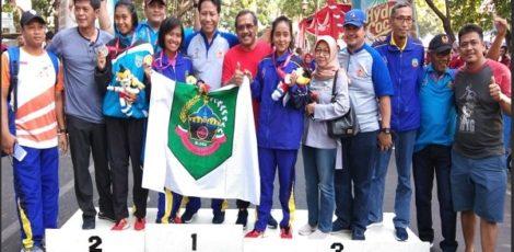 Blora meraih emas, perak dan perunggu pada cabor atletik dalam Porprov Jateng 2018.