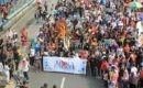 Massa Festival Budaya Blora Engkek di Car Free Day Sudirman Jakarta