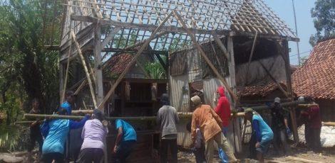 Rumah milik Tasmi di Dusun Bulu Desa Tawangrejo Kecamatan Kunduran, Blora.