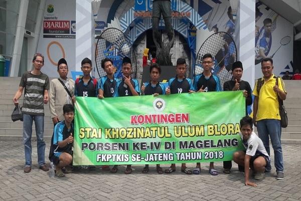 Kontingen STAI Khozinatul Ulum Blora dalam Porseni IV FKPTKIS Jateng 2018