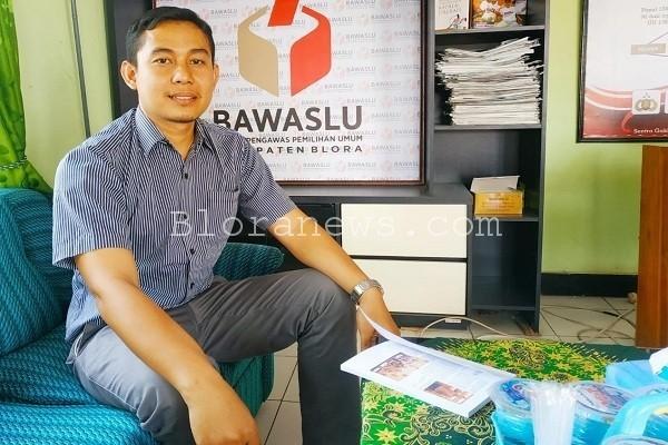Koordinator Divisi Hukum, Humas dan Datin Bawaslu Kabupaten Blora, Andyka Fuad Ibrahim