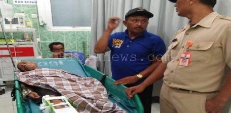 Munaji (80) menjalani perawatan di RSUD Blora
