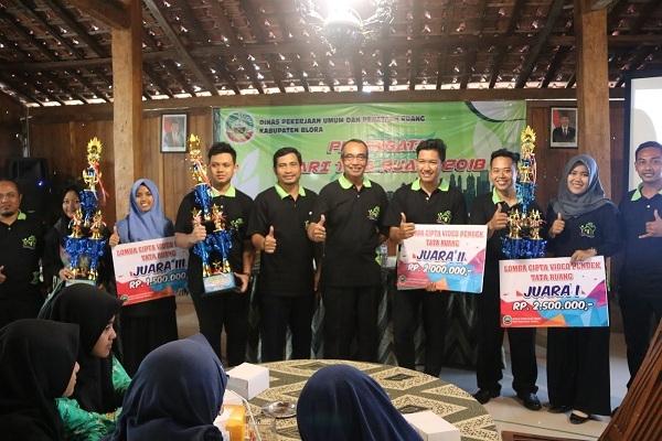 Siswa SMK Al Hikmah Ngadipurwo meraih juara 3 Lomba Cipta Film Video DPUPR Blora