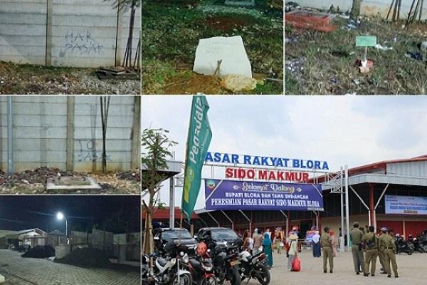 Kawasan Blok D Pasar Rakyat Sido Makmur Blora Kota