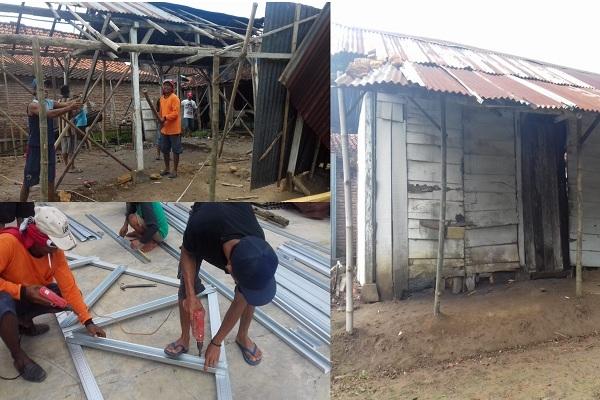 Rumah Mbah Rawi sempat roboh lantaran konstruksinya rapuh