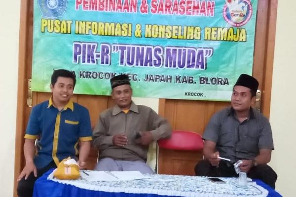 Pembinaan PIK-R Tunas Muda di Balai Desa Krocok Kecamatan Japah Kabupaten Blora