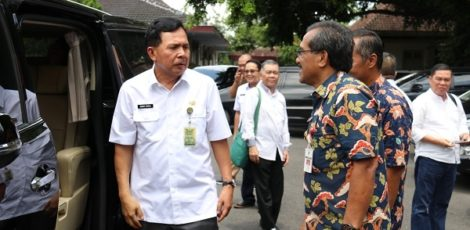 Bupati Blora Djoko Nugroho bersama Walikota Prabumulih Ridho Yahya