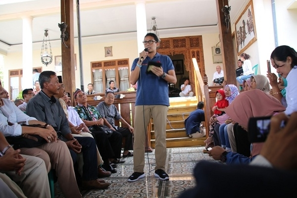 Kampanye Cawapres Sandiaga Uno di Desa Soko Kecamatan Jepon Kabupaten Blora