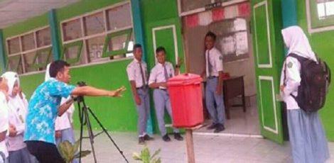 """Pengambilan gambar """"Kampanye Pembawa Luka"""" oleh tim Teater Quro SMA NU 1 Kradenan"""