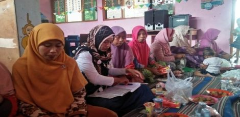 Pertemuan aktivis Aisyiyah di TK ABA 2 Mojorembun Kecamatan Kradenan Kabupaten Blora