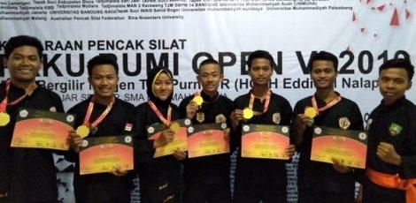 Kontingen Blora peraih emas di Kejuaraan Paku Bumi Open VI 2019 tingkat Nasional Asia-Eropa di GOR Pajajaran Bandung