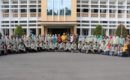Mahasiswa Peserta KKN STAI Khozinatul Ulum Blora berfoto di depan Gedung Setkab Blora