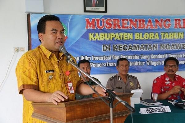 Wakil Bupati Blora, Arief Rohman dalam Musrenbang Kecamatan Ngawen
