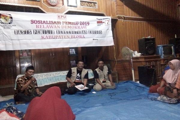Sosialisasi Pemilu 2019 di Desa Kalinanas Kecamatan Japah, Blora