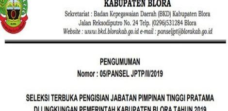 Pengumuman Seleksi Jabatan Kepala Dinas/OPD