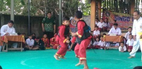 Pertandingan seleksi Popda tingkat Kecamatan Blora Kota di Pendopo Singo Lodro Kaliwangan