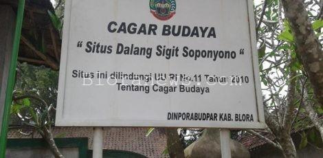 Cagar Budaya Situs Dalang Sigit Soponyono di Desa Ngiyono Kecamatan Japah