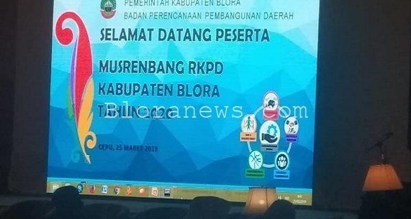 Musrenbang RKPD Blora 2020 di Hotel Allium Cepu