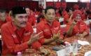 HM Dasum (berpeci) kembali memimpin DPC PDI Perjuangan Kabupaten Blora Blora- DPP PDI Perjuangan (PDI P) tel