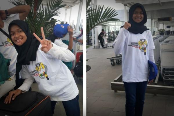 Atlet panjat tebing Kabupaten Blora, Najiha Zahra dalam Kejurnas FPTI 2019 di Pelaihari, Kabupaten Tanah Laut Provinsi Kalimantan Selatan