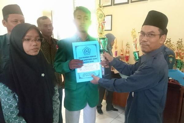 Siswa MA Maarif NU Doplang, meraih juara 1 Matematika dalam Kompetisi Sains Madrasah (KSM) tingkat Kabupaten Blora 2019