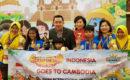 Para juara kompetisi sempoa International Abacus Olympiad Competition di Sokha Hotel dan Resorts, Siem Reap, Kamboja
