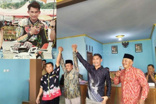 Kades terpilih Desa Bangsri, Laga Kusuma yang dulunya merupakan pembalap.