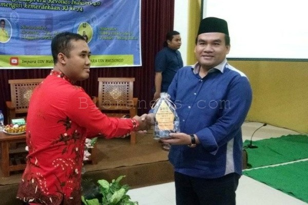 Wabup Blora Arief Rohman dalam Pelatikan Pengurus Impara UIN Walisongo Semarang di Gedung Bappeda Blora