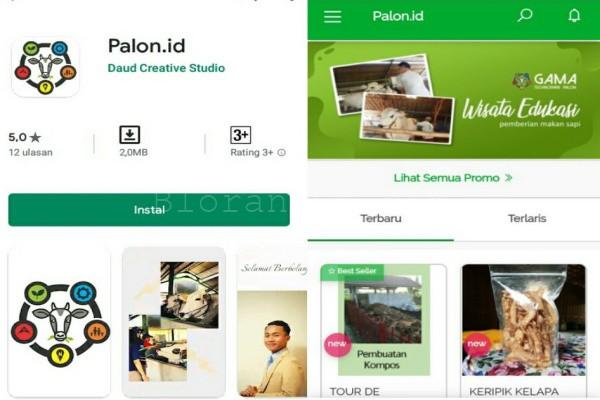 Aplikasi belanja Palon.id bisa diunduh melalui Playstore