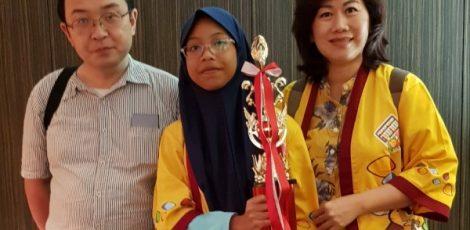 Shaula Yokkaichi Prasetyo (12) meraih peringkat keempat dalam Soroban Camp yang digelar oleh International Soroban Diffusion and Foundation, di Tokyo Jepang.