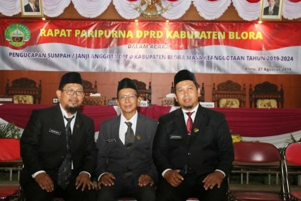 Para anggota DPRD terpilih dari PKS Blora