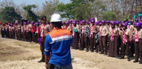 Kunjungan peserta Jambore Daerah (Jamda) XV Jateng di sumur minyak Ledok, Desa Ledok Kecamatan Sambong Kabupaten Blora