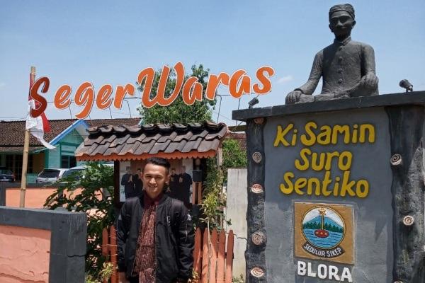 Tugu Samin Surosentiko di Kampung Samin Sambongrejo Kecamatan Sambong Kabupaten Blora