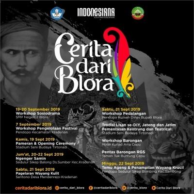 Rangkaian kegiatan dalam Indonesiana: Cerita dari Blora 2019