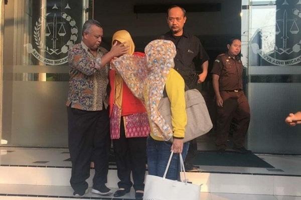Tersangka kasus korupsi Upsus Siwab Dinakikan Blora, Wahyu Agustini ditahan Kejati Jateng (foto: instagram Penkum Kejati Jateng)