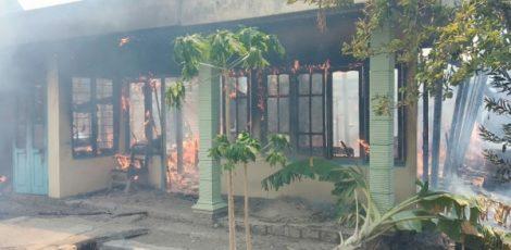 Kebakaran di Kelurahan Tambakromo Kecamatan Cepu Kabupaten Blora