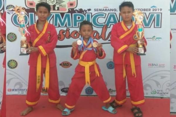 Pesilat cilik Blora merebut medali emas di Olympicad Nasional 2019 di Semarang