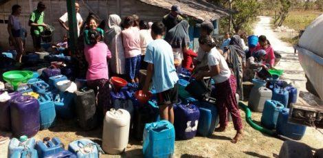 Droping air bersih di Kecamatan Jati Kabupaten Blora