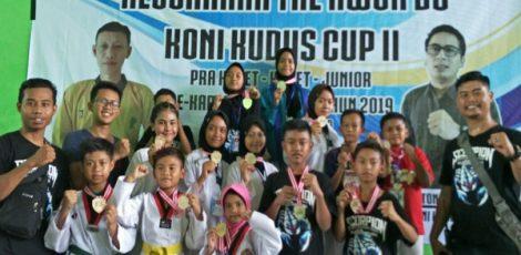 Atlet STC Academy Blora dalam kejuaraan Taekwondo Koni Kudus II 2019 di Sport Hall Kudus