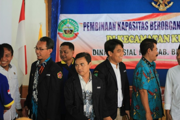 Joko Priyanto (tengah) terpilih menjadi Ketua Karang Taruna Kecamatan Kunduran periode 2019-2024