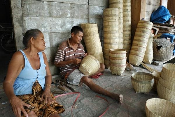 Berbagai kerajinan anyaman bambu di Desa Sumurboto Kecamatan Jepon Kabupaten Blora